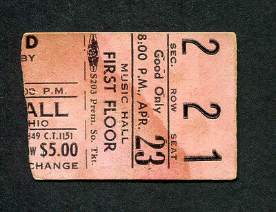 1972 Pink Floyd concert ticket stub Dark Side Of The Moon Tour Cincinnati OH