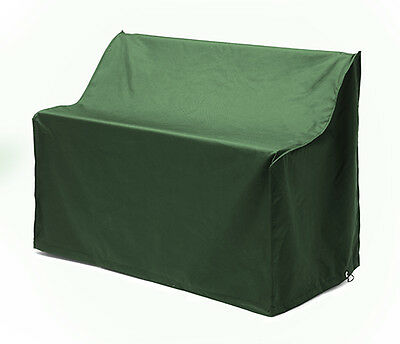 Green Waterproof 2 Seater Bench Cover Garden Furniture Heavy Duty PU Outdoor