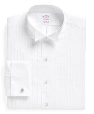 Nwt Brooks Brothers Traditional Fit Ten-Pleat Wing Collar Tuxedo Shirt