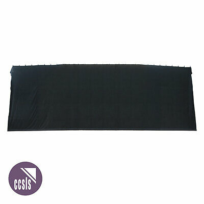 Bravo 9M X 3M Black Cotton Velvet Stage Curtain - Flat _ 93B
