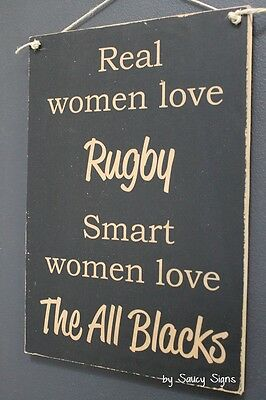 Smart Women Love The All Blacks Rugby Sign Kiwi New Zealand Football Sign