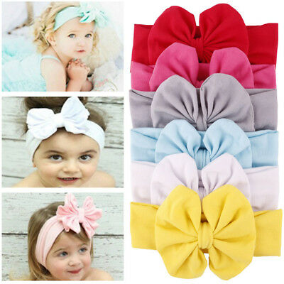 Fashion Baby Toddler Girls Kids Bunny Big Bow Knot Turban Headband Hairband