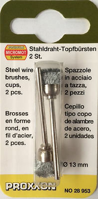 Proxxon micromot steel wire 13mm brushes 28953 202354 / Direct from RDGTools