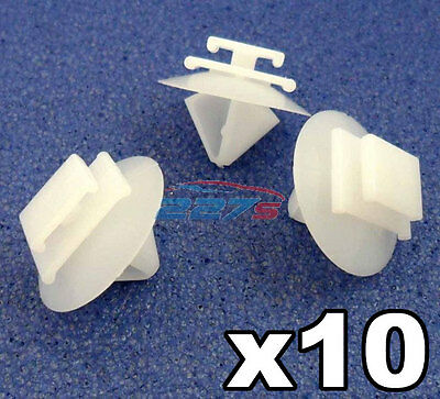 10x Peugeot Side Moulding Bumpstrip / Rubstrip Plastic Trim Fixing Clips