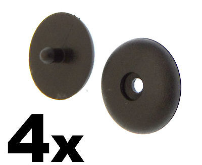 4x Vauxhall Seat Belt Buckle Buttons- Holders Studs Retainer Stopper Rest Pin