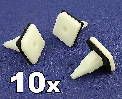 10x Mitsubishi Plastic Trim Clip- For Sill Mouldings, Side Skirts, Rocker Covers