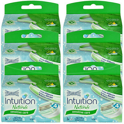 18 Wilkinson Intuition Sensitive Care Naturals Rasierklingen Klingen Aloe Vera