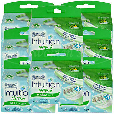 24 Wilkinson Intuition Sensitive Care Naturals Rasierklingen Klingen Aloe Vera