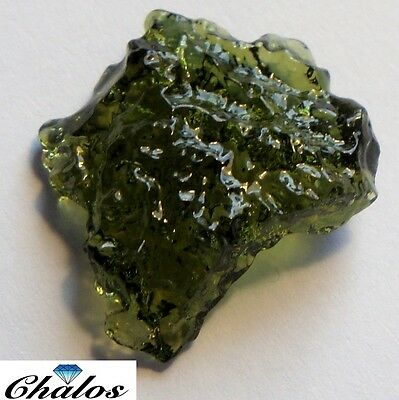 Moldavite - Fantasie  22,09ct 22,27x20,35x5,77 mm(2247)