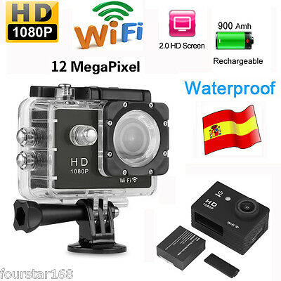 "2,0"" 30M Waterproof WiFi Full HD H264 1080p 12Mp Video Action Sports DV Camera"