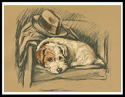 Jack Russell Terrier In A Chair Lovely Vintage Style Dog Print Poster