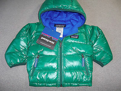 NEW PATAGONIA JACKET HI LOFT DOWN HOODIE SWEATER GRN BABY BOY 6m 6 MONTH FRE SHP
