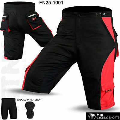 MTB Cycling Short CoolMax Padded Off Road Cycle Inner Shorts Size M - L - XL
