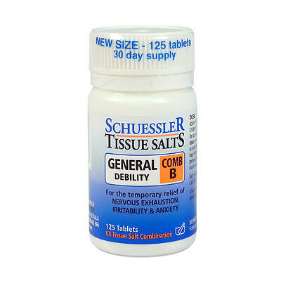 SCHUESSLER Tissue Salts Comb B 125 tablets General Debility combination anxiety