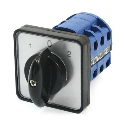 CA10 3-Phase 3 Positions Cam Changeover Switch w Installation Screws