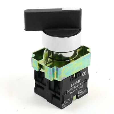 Panel Mount 2 Position Locking DPST Rotary Cam Switch 660V 10A