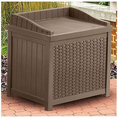 Suncast SSW1200 Mocha Resin Wicker 22-Gallon by Suncast (Style: Storage Seat)