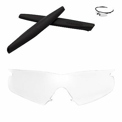 5dc97c14eb Walleva Clear Replacement Lenses and Black Rubber Kit for Oakley M Frame  Hybrid