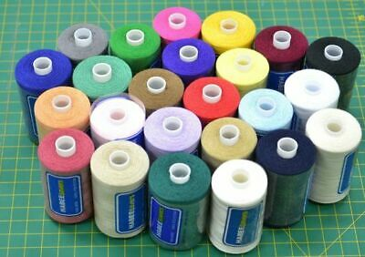 24 x 1000m Spools HabeeSavers 100% Polyester Sewing Thread, One Of Each Colour