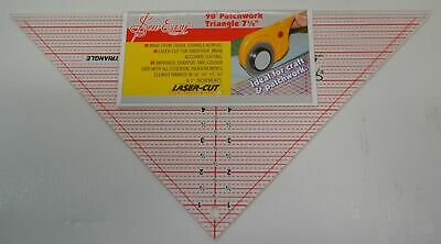 "Sew Easy 90 Degree Patchwork Triangle 7 1/2 x 15"", Durable Acrylic Lasercut Tria"