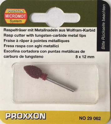 Proxxon TCT conical rasp 8mm x 12mm for LWS 29062 / Direct from RDGTools