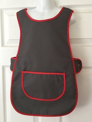 Wholesale Job Lot 10 Brand New Kids Childrens Tabards Aprons Grey Red Craft