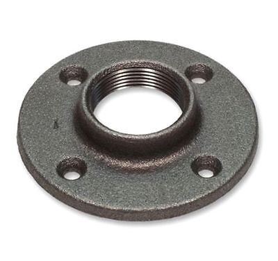 "2"" Black Malleable Floor Flange - Iron Pipe Fittng Npt"