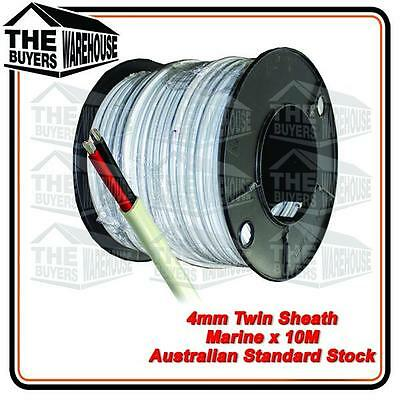 10M x 4mm MARINE GRADE TINNED 2 CORE TWIN SHEATH  BOAT ELECTRICAL CABLE TYCAB