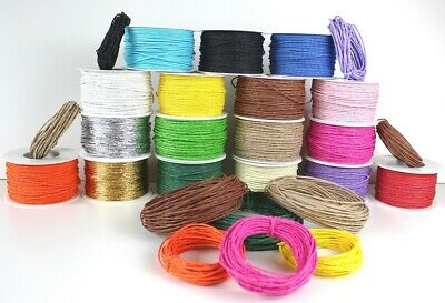 5m > 100m Paper Covered Craft / Florist Wire 2 mm - 16 Different Colours