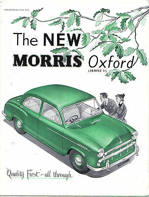 Morris Oxford Series II Saloon 1954-55 Original UK Foldout Brochure H&E 53152
