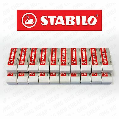 STABILO LEGACY MARS ERASER PLASTIC RUBBER ERASERS [Pack of 20 Erasers]
