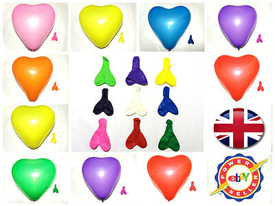 """LARGE 10"""" ❤ Latex HEART BALLOONS PARTY EVERY OCCASION BALOONS HEAVY DUTY BALLONS"""