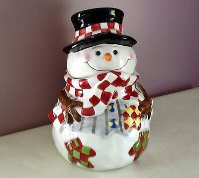 Christmas Snowman Cookie Jar from World Bazaars, Inc.