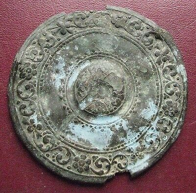 Authentic Ancient Artifact > LARGE Byzantine Belt Buckle Decoration  ALS 114