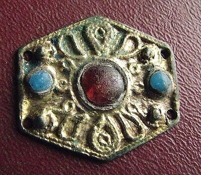 Authentic Ancient Artifact > Frankish Merovingian Belt Decoration Buckle ALS 18