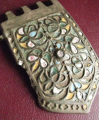 Authentic Ancient Artifact > Byzantine Enameled LARGE Belt Buckle ALS 24