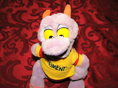 Disneyland Disney World Parks Plush Stuffed Epcot Figment Doll Purple Dragon 10""