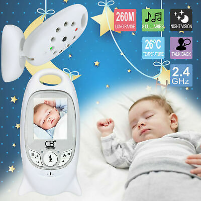 "UK Baby Monitor 2"" LCD Audio Night Vision 2.4GHZ Wireless Digital Video Camera"