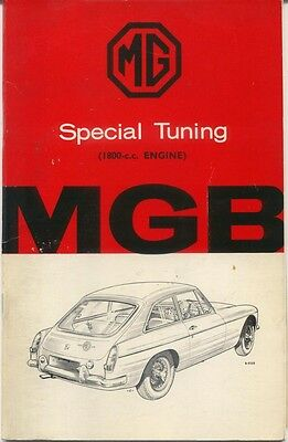MG MGB Roadster & GT 1800cc original Special Tuning Booklet  AKD 4034C 1965