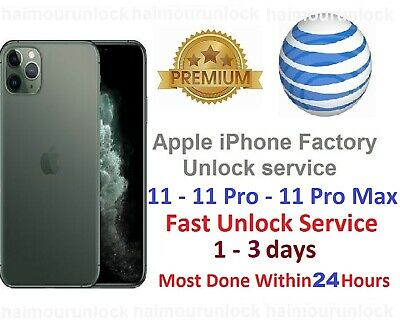iPhone 11 PRO MAX Factory Unlock Service clean att IMEI Fast at&t service
