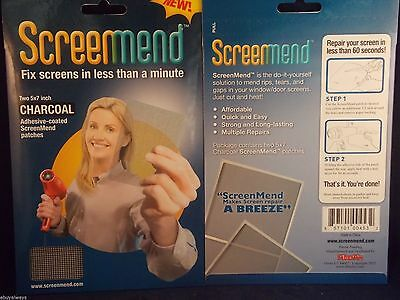 Screenmend Screen Patch 5 x 7 inch Charcoal Color