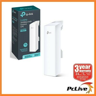 TP-Link CPE210 2.4GHz 300Mbps 9dBi Outdoor CPE Wireless Access Point AP Repeater