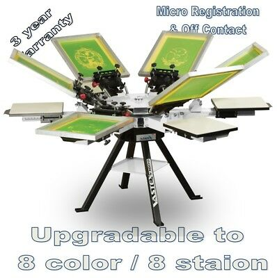Vastex V-1000 Screen Printing Press 6 Station/6 Color