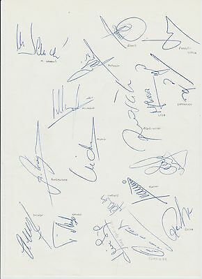 Real Madrid Copa Del Rey Winners 1993 Rare Hand Signed A4 Sheet X 18 Signatures