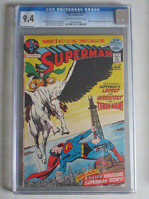 Superman #249 1972 CGC 9.4 OW/W Pages