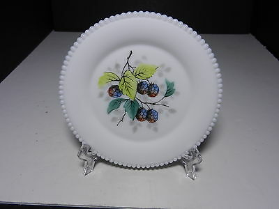 "Westmoreland Beaded Edge Bread & Butter Plate Black Berries 6"" D ca 1953-1985"