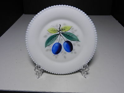 "Westmoreland Beaded Edge Bread & Butter Plate Plums 6"" D ca 1953-1985"