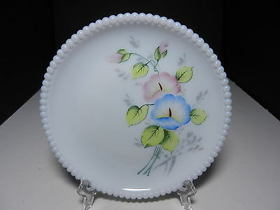 "Westmoreland Beaded Edge Salad Plate Morning Glory 7 3/8"" D ca 1953-1985"