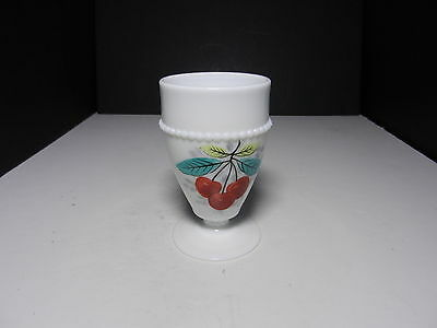 "Westmoreland Beaded Edge Water Goblet Cherry BE-8 5"" T ca 1953-1985"
