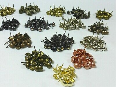 DECORATIVE UPHOLSTERY NAILS / TACKS / STUDS / PINS (26 Colour Finishes)